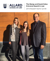 The Manjy and David Sidoo Entrance Award at the Allard School of Law Granted to Recipient Rachel Gar