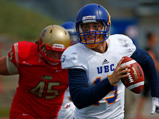 The Province - Blake Nill-era opens in style for UBC, football 'Birds get historic win at powerhouse