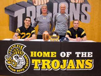 Boyd football standouts sign with CIS schools Patrick Ruvalcaba and Tyler Moxin headed to Acadia and