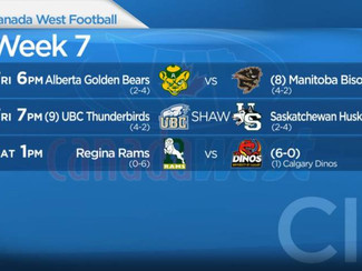 Canada West Football: Week 7 preview
