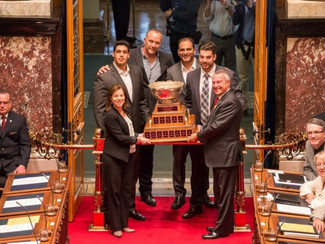 Press Pass: The UBC Thunderbirds presented their Vanier Cup to the house