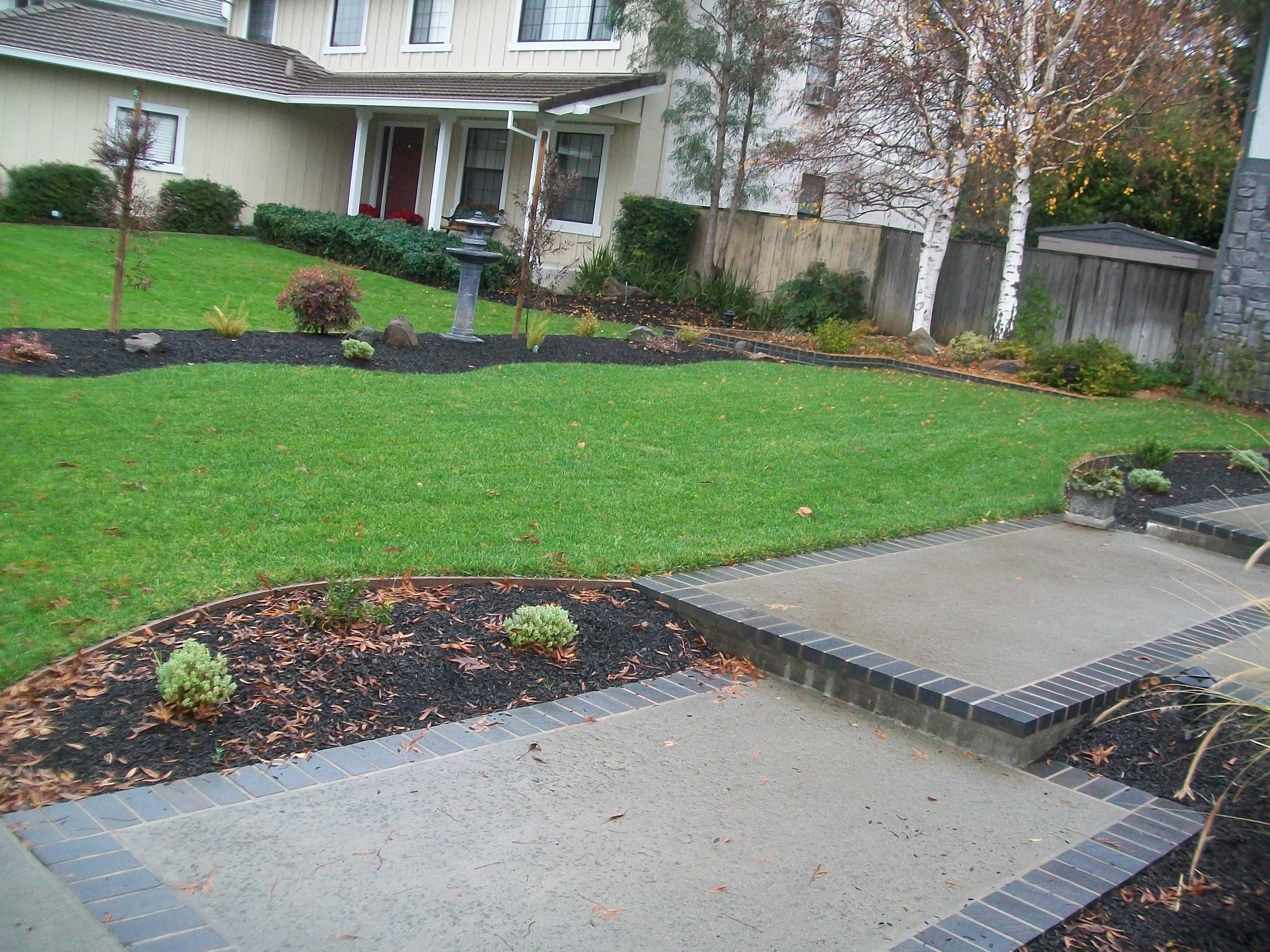 established landscaping