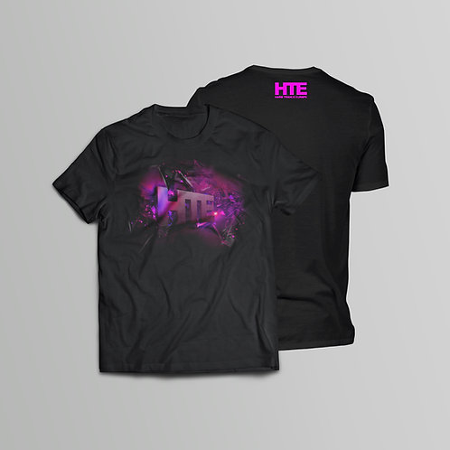 HTE Recordings Purple T-Shirt (Front and Back Print)