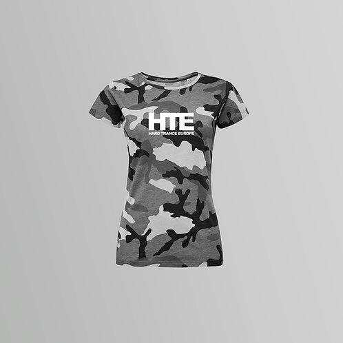 HTE Ladies Camo T-Shirt (Grey)