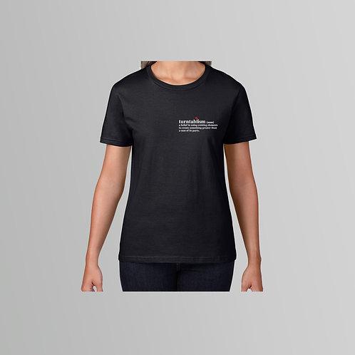 Definitions Ltd Edition Turntablism Ladies T-Shirt (Black/White)