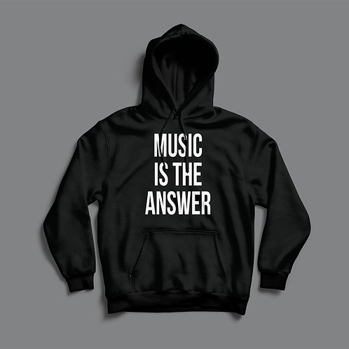 Definitions Ltd Edition Music Is The Answer Hoodie Black/White)