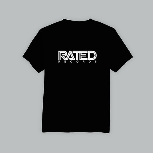 Rated Records T-Shirt (Black/White)