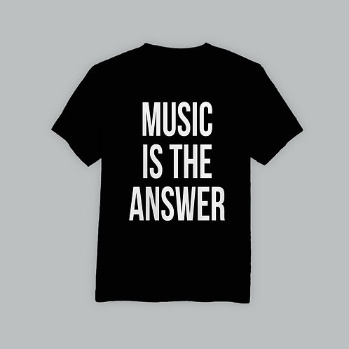 Definitions Ltd Edition Music Is The Answer T-Shirt (Black/White)
