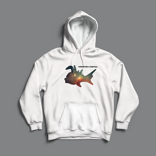High Fish Recordings Toureg Hoodie (Black/White)