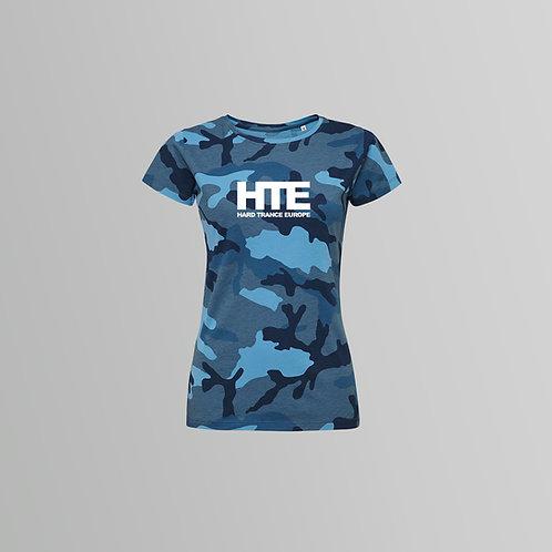 HTE Ladies Camo T-Shirt (Blue)