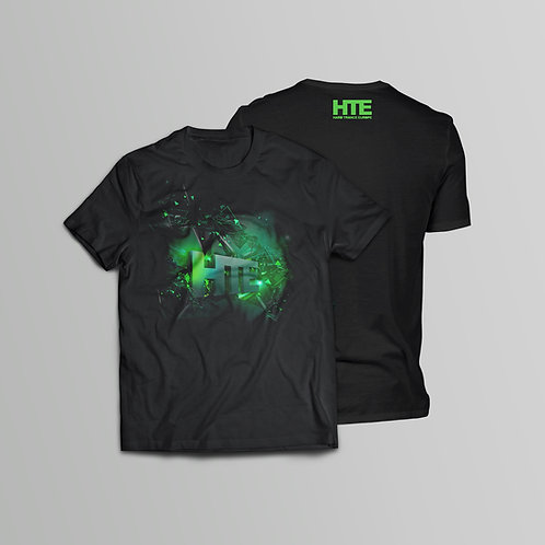 HTE Recordings Green T-Shirt (Front and Back Print)