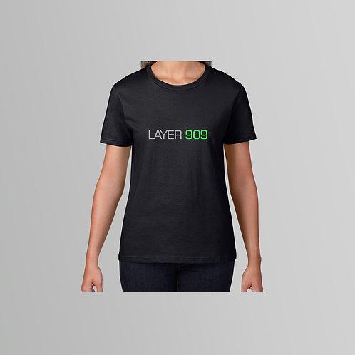 Layer 909 Ladies T-Shirt (Black)