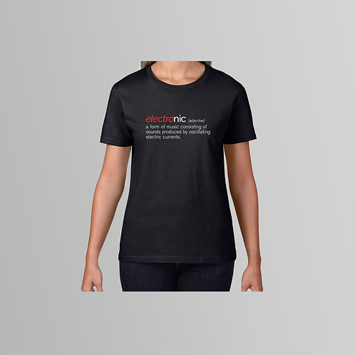 Definitions Ltd Edition Electronic Ladies T-Shirt