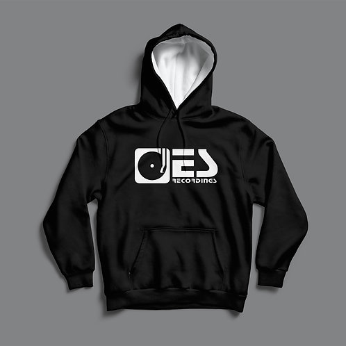 Electrik Shandy Recordings Hoodie- Black / w White Hood.