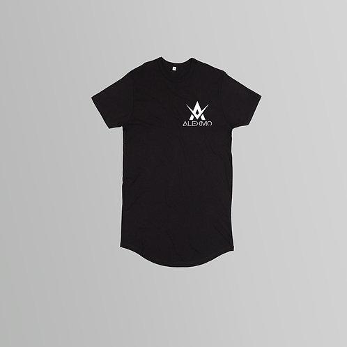 AlexMo Long Line T-Shirt (Black/White)