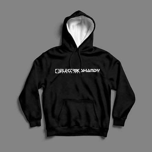 Electrik Shandy Hoodie- Black / w White Hood.
