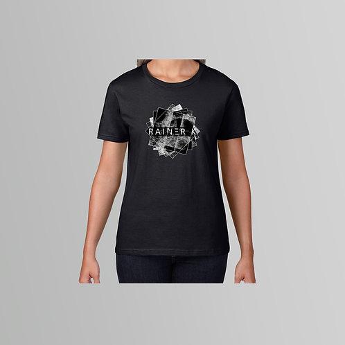 Rainer K Circular Ladies T-Shirt  (Black/White)