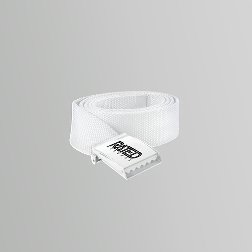 Rated Records Belt (Black/White)