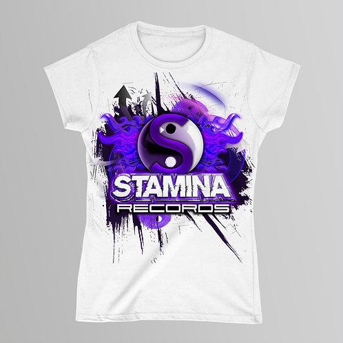 Stamina Classic Ladies T-Shirt (Black/White)
