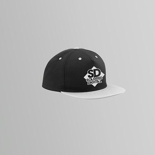 Scarred Digital Snapback Cap (Grey/Pink)