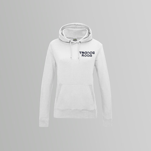 Trance Room ladies Hoodie (White / Black)