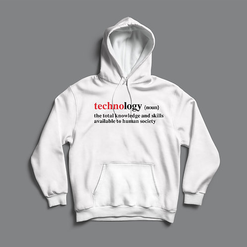 Definitions Ltd Edition Technology Hoodie Black/White)