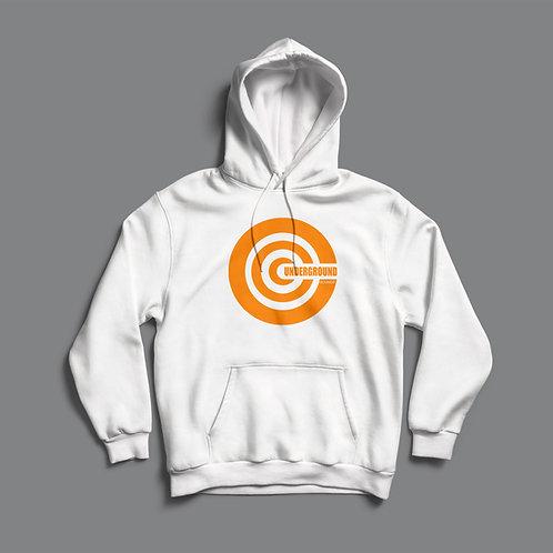 Underground Sounds Orange Hoodie (Black/White)