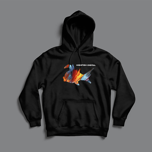 High Fish Recordings Elite Hoodie (Black/White)