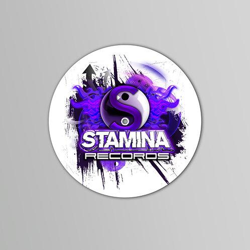 Stamina Slipmats (Black/White) (Pair)