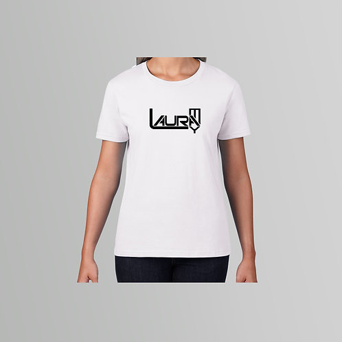 Laura May Ladies T-Shirt (Black/White)