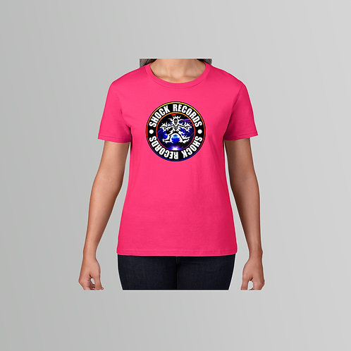 Shock Records Ladies T-Shirt Colour Logo (Various Colours)
