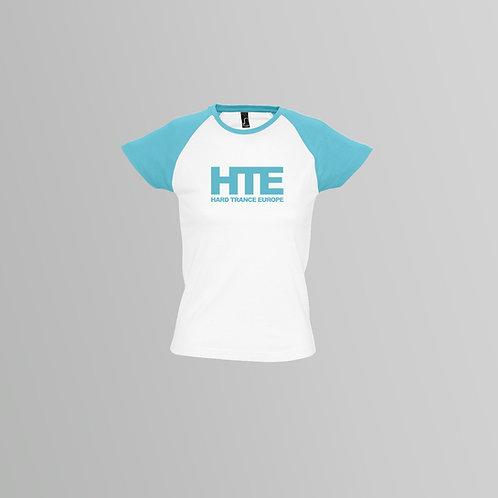 HTE Ladies Baseball Shirt (Blue/White)