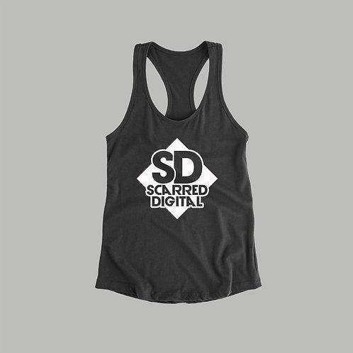 Scarred Digital Vest (Black/White)