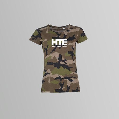 HTE Ladies Camo T-Shirt (Green)