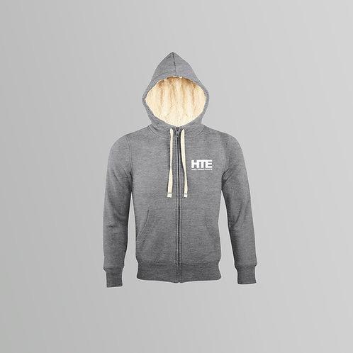 HTE Unisex Sherpa Lined Hoodie (Grey)