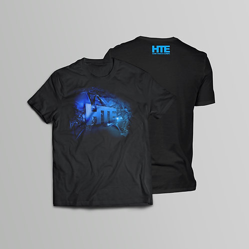HTE Recordings Blue T-Shirt (Front and Back Print)