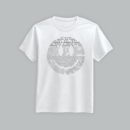 Definitions Ltd Edition Criminal Justice Smiley T-Shirt (Black/White)