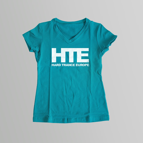 HTE Ladies V-Neck T-Shirt (Turquoise)
