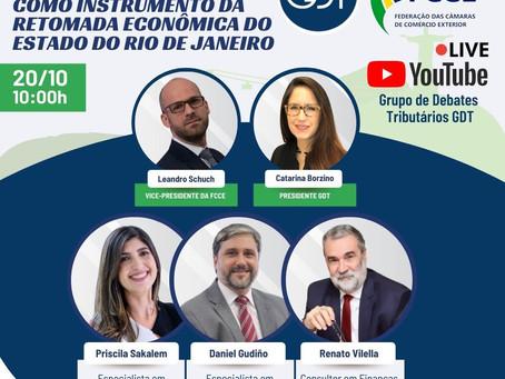 WEBINAR: OS BENEFÍCIOS FISCAIS COMO INSTRUMENTO DA RETOMADA ECONÔMICA DO ESTADO DO RJ