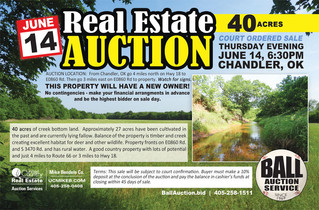 REAL ESTATE AUCTION: 40 Beautiful Acres