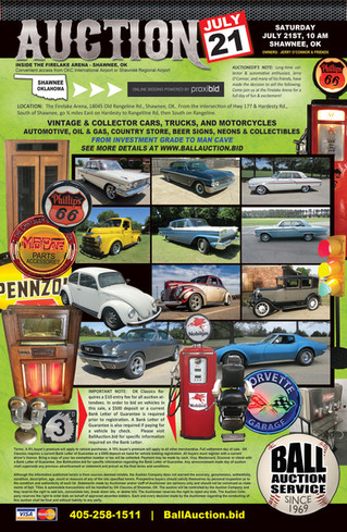 OK CLASSICS - COLLECTOR CARS & MEMORABILIA AUCTION