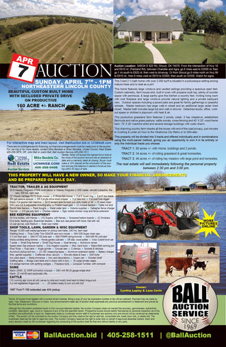 AUCTION: 160ac Ranch - 3 tracts - Farm Equipment