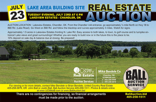 NO RESERVE REAL ESTATE AUCTION: Chandler Lake Area Building Site