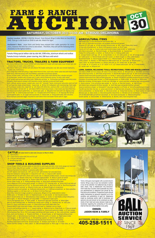 AUCTION: Tractors, Trucks, Farm Equipment, Cattle