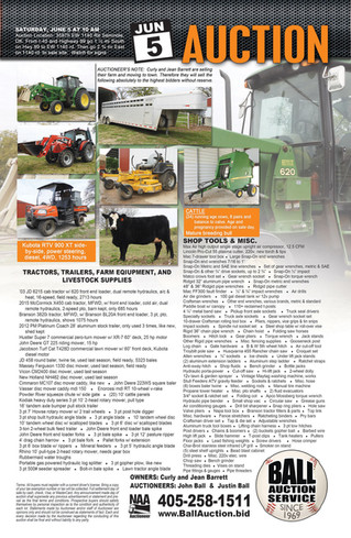 AUCTION: Tractor, Trailers, Tools, Equipment