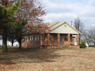 NO RESERVE AUCTION: Brick Home on 2 AC