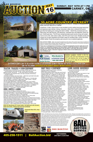 Auction: Real Estate and Personal Property