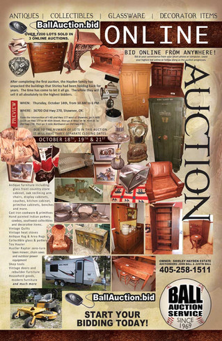 ALL ONLINE ESTATE AUCTION: Bid now on Antiques, Camper, ZT mower and much more!