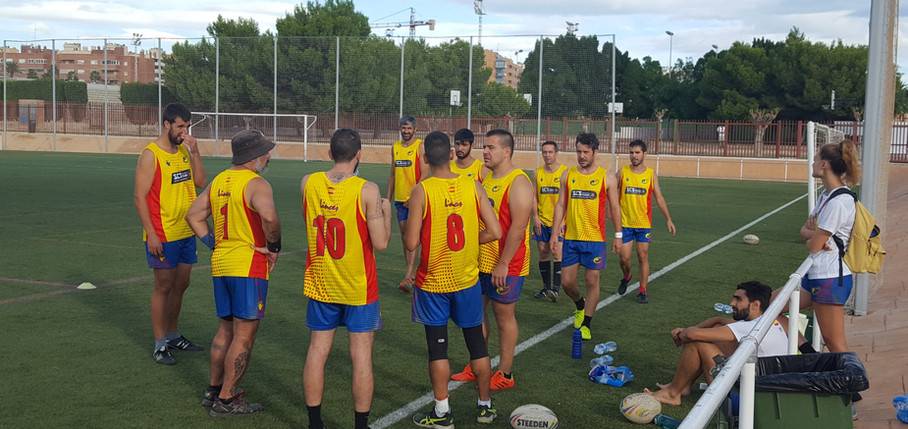 Touch Spain Rugby Team at Euro Touch Championships Elche 2019