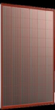pannello fotovoltaico rosso in silicio policristallino alta efficienza